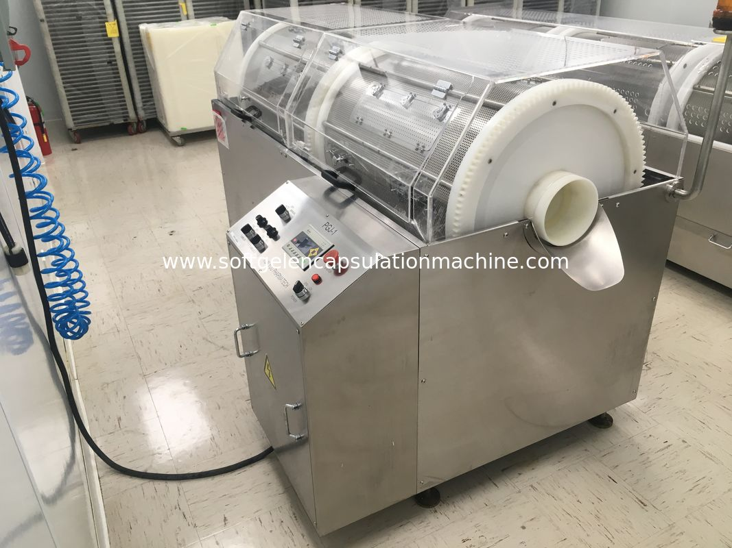 PGJ-1 Intelligent Softgel Encapsulation Machine Tumbler Dryer For Shaping And Polishing